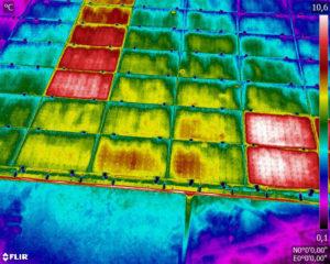 Recherche de dysfonctionnements sur panneaux solaires